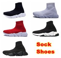 Wholesale Golf Socks - Luxury Sock Shoe Speed Trainer Running Shoes Cheap Sneakers Speed Trainer Sock Race Runners Black Shoes Men And Women Sports Shoes