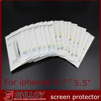 ingrosso iphone 4.7 5.5 protezione dello schermo-Pellicola proteggi schermo Pellicola protettiva per schermo trasparente opaca / trasparente 2014 con pacchetti vendita per iPhone 6 6G 4.7 '' 5.5