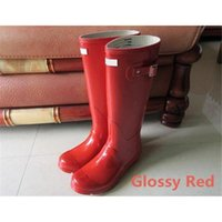 Rainshoes para mulheres Wellies Wellingtons Wellington Rain gules Welly Waterproof Knee Rainboots Rain Boots Glossy Matte Shoes Galoshes