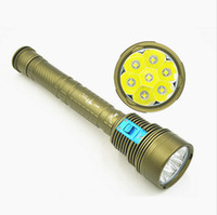 ingrosso torcia skyray-Hight Bright Skyray DX7 Plus Torcia subacquea 150m Underwater 7x Cree XML L2 14000 Lumens Scuba Diver Torch