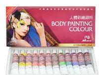 Wholesale 12pcs box ml body art painting colors face painting pigment theatrical makeup kit tattoo set for party game cheer festive