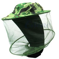 Wholesale Bee Protector - Wholesale-V115 Bug Insect Bee Mosquito Resistance Net Mesh Head Face Protector Fish Cap Sun Hat
