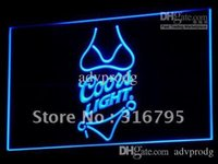 Wholesale Coors Beer Lighted Signs - a119-b Coors Light Beer Bikini Bar Pub Neon Light Sign