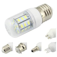 Wholesale E12 Bulb 12v - Led Lamp E27 E14 E26 E12 B22 G9 GU10 5730 SMD AC DC 12V 24V Corn Bulb 9V-30V Chandelier White Warm White Energy Saving 10Pcs Lot