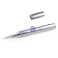 aguja de maquillaje 3rl al por mayor-Máquina de maquillaje semi permanente Derma pen 1RL 3RL 7F 9 12 36Pin Auto Micro Needle Therapy 2 baterías recargables