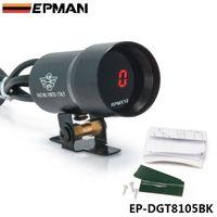 Wholesale Rev Gauge - EPMAN Micro Digital all Electronic Rev Counter  Tachometer Gauge   Rev Counter Gauge,3 4 6 8 cyl , 37mm NEW ! Black EP-DGT8105BK