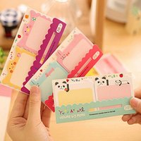Lovely Cartoon Animals Stampa Memo Pad Note Sticker Segnalibro Point It Marker Memo Pads Bandiere Sticky Notes Scrapbooking Sticker