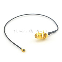 Wholesale Rp Sma Bulkhead - (100 pieces lot) Extension cable RP SMA female (male pin) bulkhead to Ufl. IPX connector pigtail cable 1.13 17cm