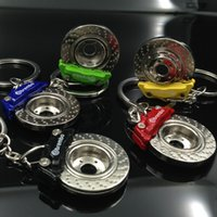 Wholesale Disc Brake Keychain - Creative Hot Sale Disc Brake Shape Auto Parts Model Keychain Key Chain Ring Key Fob Keyring 86032