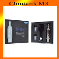 Wholesale M3 Clearomizer - 2015 newest Cloupor Cloutank M3 Clearomizer Pyrex Glass Clear Vaporizer 2in1 for Dry Herb Atomizer 0203088