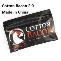 Wholesale China Diy Atomizer - Newest Cotton Bacon Pure Organic Cotton Bacon2 For DIY RDA RBA Atomizer E Cigarette Made in China