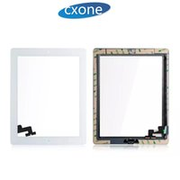 Wholesale Factory Replacement Parts - Factory Price Standar For iPad 2 Touch Screen Part Assembly with adhesive with home button Replacement Front Glass White Black No Dead Pixel