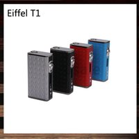 Wholesale Box Eiffel - Esige Eiffel T1 165W VW TC Box Mod 4400mah Battery With Wireless Charger 100% Original VS Snowwolf 200W Sigelei Fuchai 200W