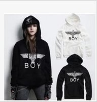 Wholesale Cheap Casual Hoodies - Free shipping hot sale hoodies eagle printed hiphop hoodie BOY LONDON Hoodies Sweatshirts cheap BOY eagle hoodies 9 colors