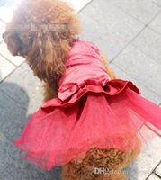 Wholesale Dresses Blingbling - Noble wedding dress blingbling tricolor spring and summer dog clothes pet clothes pet dress JIA357