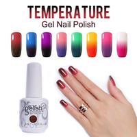 Wholesale Gelish Color Gel Nail Polish - (Choose Any 3 Color) Gelish Nail Art Soak Off 48 Colors Temperature Color Changing Gel Nail Polish