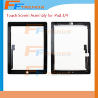 Touch Screen para iPad 2 3 4 iPad3 iPad4 iPad2 Touch Digitizer Tela com Início Botão Assembly Vidro Replacement Screen Touchscreen