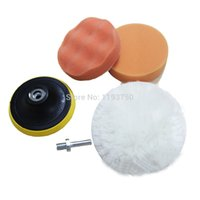 Wholesale 2015 Hot in quot mm Car Polishing Buffing Pad set for Car Care with Drill Adaptor M10