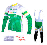 Wholesale Mountain Bike Kit - Andalucia 2015 winter thermal fleece cycling clothes bicycling jerseys sale cycling kit winter cycling jersey mountain bike winter jersey