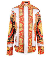 Wholesale Men Party Shirts - fashion Hip hop 3D Medussa men shirt long sleeve party ball casual shirt streetwear men clothes CN Free Shipping Hot new brand