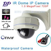 Wholesale Ir Night Vision Dome Camera - ONVIF 1280*720P HD 1.0MP Mini Dome IP Camera Outdoor Indoor Waterproof Metal Case IR Night Vision P2P Plug Play