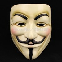 Wholesale Cosplay Silicone Mask - 2015 Hot Selling Party Masks V for Vendetta Mask Anonymous Guy Fawkes Fancy Dress Adult Costume Accessory Party Cosplay Masks