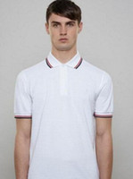 Wholesale london clothing - Fred men's polo shirt London Fashion youth casual polo shirts mens slim fit England perry polos solid jerseys brand clothing White