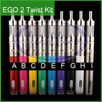 Wholesale E Cigarettes Ego V New - GS EGO kgo 2 II Twist Mega Kit with V-Core 3 GlassTank Atomizer Ego-II Twist Battery 2200mAh EGO II Twist Mega e cigarette Kit 2015 New DHL