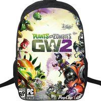 bitkiler vs zombiler sırt çantaları toptan satış-Bahçe savaşı 2 sırt çantası Bitkiler vs Zombies okul çantası PVZ daypack Oyunu schoolbag Açık sırt çantası Spor günü paketi