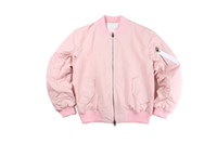 Wholesale Korean Mens Coats - Fall-khaki pink fleece mens clothing coats oversized big bang cool korean jackets for men clothes women ma1 bomber jacket