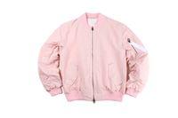 rosa koreanische jacke großhandel-Herbst-Khaki / rosa Fleece Herren Kleidung Mäntel übergroßen Big Bang coole koreanische Jacken für Männer Kleidung Frauen ma1 Bomberjacke