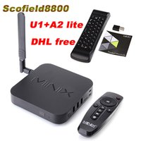 Wholesale Minix Neo Android Tv Box - MINIX NEO U1+NEO A2 lite Android TV Box Amlogic S905 Quad Core 2G 16G 802.11ac 2.4 5GHz WiFi H.265 HEVC 4K Ultra HD Smart TV Box
