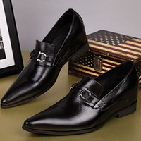 Wholesale Handsome Pump - New Arrival Gentlemen Wedding Party Handsome boy Shoes Genuine leather Pointed toe Slip on men Loafers