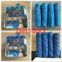 Wholesale Hair Rollers Curling Rods - Sleep Styler Hair Rollers Hairs Curling Curler Air Hair Roller Curlers Soft Foam Bendy Twist Rods DIY Hairs Styling Tool Free Shipping