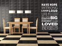 Wholesale family wall quotes large - Vinyl Wall Sticker Large Family Rules Quote Wall Decals for Room Decor