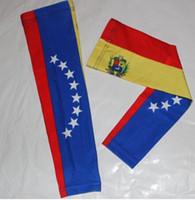 mangas de beisebol personalizado venda por atacado-Custom made new venezuela bandeira compressão esportes braço manga digital camo beisebol futebol