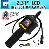 "Wholesale Endoscope Camera Led Light - VID-10 Industrial 2.31"" TFT LCD 8mm Camera Video Borescope Endoscope 4 LED Lights AV Output SnakeScope 3FT Cable Surveillance Tool"
