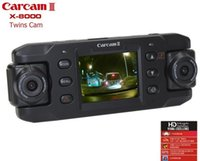 Wholesale Digital Camera Dual Display - Car DVR (Dual Lens) Dual Lens Car Camera Two Lens Vehicle DVR Dash Recorder GPS G-sensor For CA365 X8000 Camera