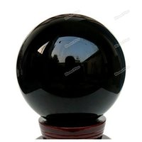 Wholesale Heal Up - Wholesale-homeplus 80mm Natural Black Obsidian Sphere Large Crystal Ball Healing Stone Save up to 50%