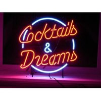 Großhandels-NEUE ROTE HANDICRAFT COCKTAILS DREAMS NEON LIGHT BEER BAR PUB REAL GLASS TUBE SIGN 17x14