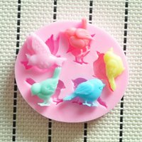 Wholesale Bird Molds - 2014 New Lovely bird silicone mold,Fondant Cake Decorating Tools,Silicone Soap Mold,silicon molds cake decorating