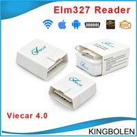 Wholesale Supports Obd2 Protocols - Wholesale Super Viecar 4.0 Scanner Tool wireless Bluetooth Support All OBD2 Protocol For Android & Iphone With High Quality elm327 DHL Free