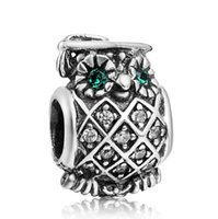 Wholesale Dr Charms - New! Wholesale The Owl Dr. Charm 925Sterling Silver European Charms Beads Compatible With Snake Chain Bracelets DIY Jewelry