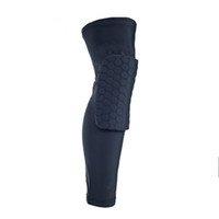 Wholesale Leg Support Sports - Sports Elastic Leg Knee Pad Support Brace Basketball Protector Gear Honeycomb Kneepad 4 colors Cycling Long Knee Protector Soft G0151