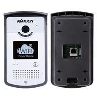 Wholesale Visual Doorbell - KKMOON WIFI Video Doorbell 0.3MP Network Home Doorphone Wireless Visual Phone Control Outdoor   Indoor Door Bell with Camera