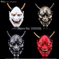 Wholesale japanese masks halloween online - Vintage Japanese Buddhist Evil Oni Noh Hannya Mask Halloween Props Collect