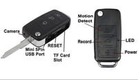 Wholesale Hc Cars - super 1280 x960 Mini Car Key Chain DV Spy Motion Detection Camera Hidden HD Webcam DVR Camcorder Spy Camera DVR HC-KEYCM-DVR