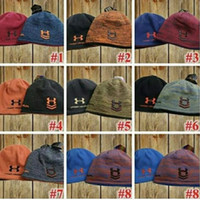 Wholesale Thick Knit Wholesale Beanies - Unisex Knitted Hats Winter Warm Thick Beanie Fedora Branded Under Skull Caps Men Crochet Reserved Hat Skiing Reversible Hats