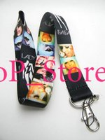 Wholesale Holder For Picture - Wholesale - LADY GAGA pictures music star black design Key chain LANYARD Neck Hook Key ID Holder NEW