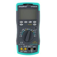 Wholesale Ac Current - Wholesale-Anti-drop Performance LCD HoldPeak HP-890CN Digital Multimeter DC AC Voltage Current Meter Electrical Instruments